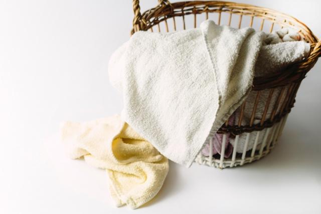 洗濯物を放置