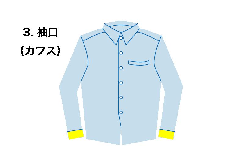 ワイシャツの袖口のイラスト
