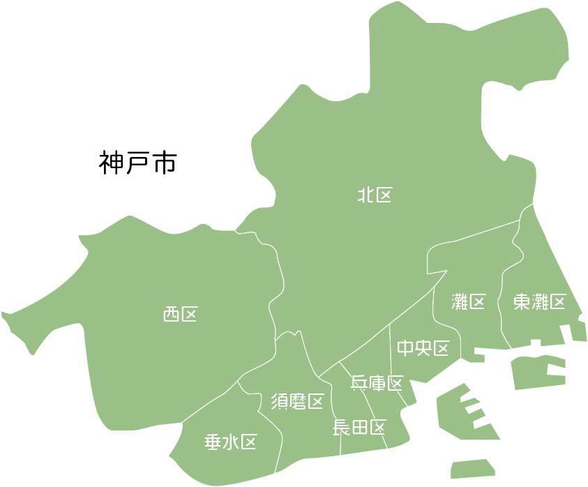 神戸の地図