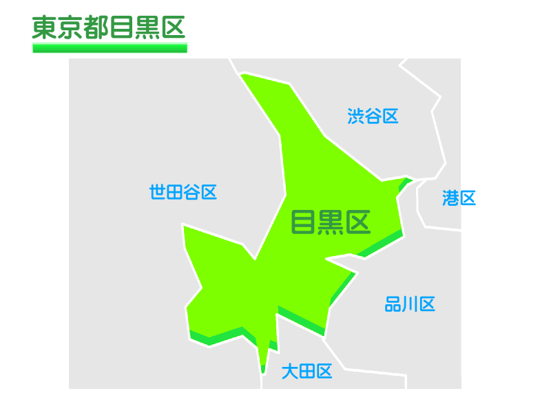 目黒区の地図