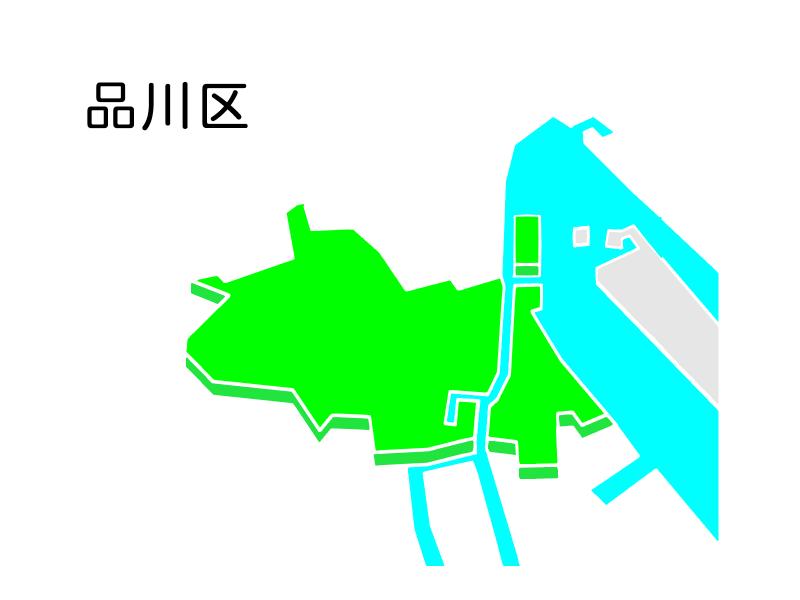 品川区の地図
