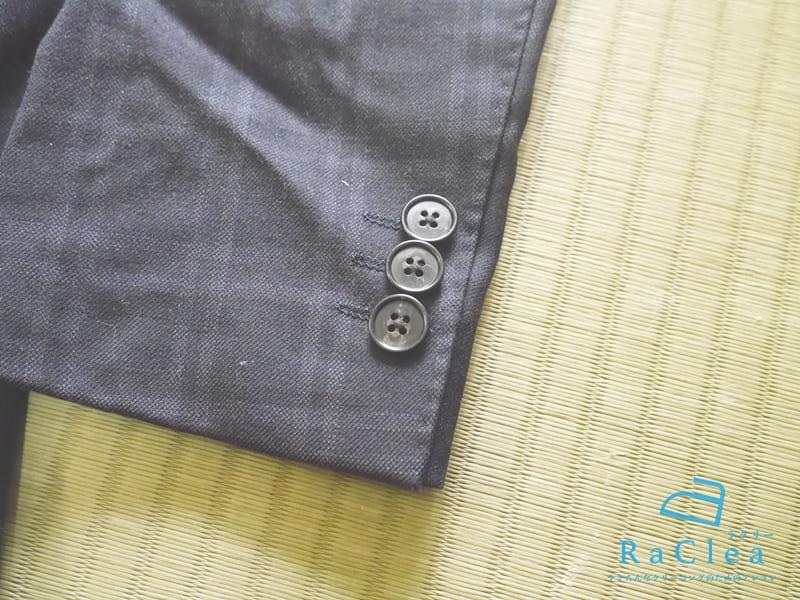 ジャケットの袖のボタン